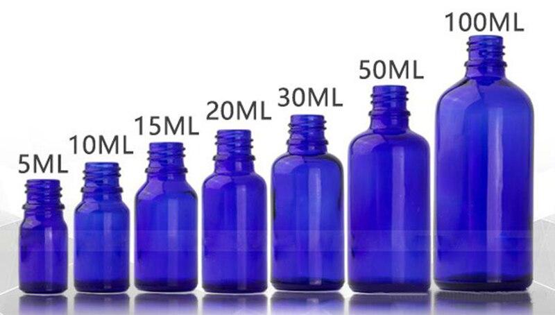 10ml 15ml 30ml 50ml 100ml Blu Bottiglie di Oli Essenziali Bottiglia di Vetro Dello Spruzzo di Vetro Con Il Nero pompa di Spruzzatore Cap Per Profumo Cosmetico - 4