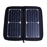 Solar Panel New Designed Sunpower Solar Powered Phone Battery Charger Solar Bag Foldable Portable 12 W black