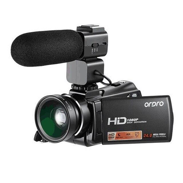 HDV-V7 Plus Full HD 1080P Digital Camera 3.0 inch Screen IR Night Vision Professional Camcorder Remote Control Video Cameras