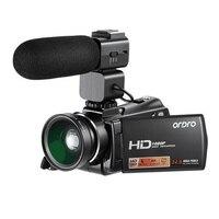 Ordro HDV V7 Plus Digital Camera HD 1080P 3' Screen IR Night Vision Camera Professional Camcorder Remote Control Video Camera