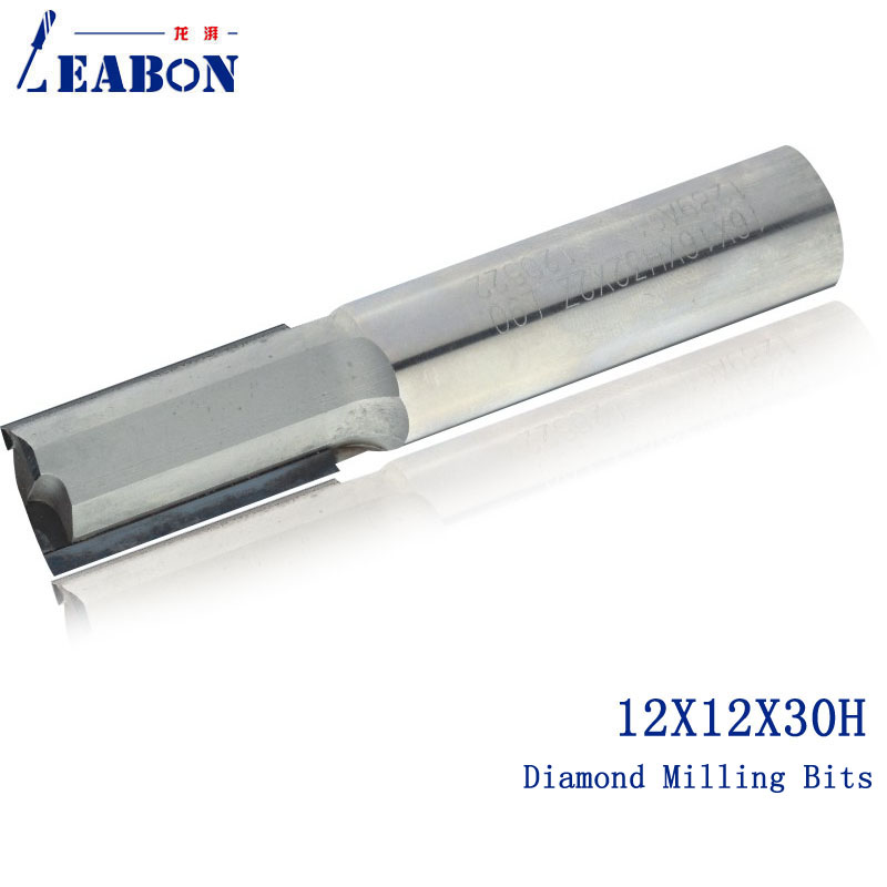 12*12*30H Diamond straight CNC router bits/ CNC Milling cutter / woodworking cutter, for wood ,MDF,Plywood single blade cutter milling cutter engrarving tools for woodworking pvc mdf plywood solid wood plastic cnc end mill