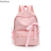 d03735c521ca FanFine Women backpack 2018 New Leisure Best Travel Backpacks students  Adolescent Girl Everyday Rucksack Mochila cute bow bag