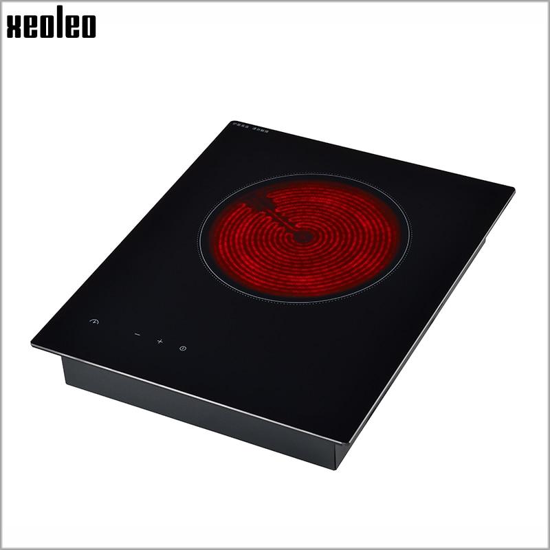 Xeoleo Electric Ceramic heater 2000W Light wave cooker Embedded Electric Ceramic Cooker touchpad Induction cooker No Radiation