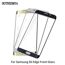 10Pcs/lot Front Outer Glass Lens Replacement For Samsung Galaxy S6 Edge G925 Front Glass Touch Screen Panel стоимость
