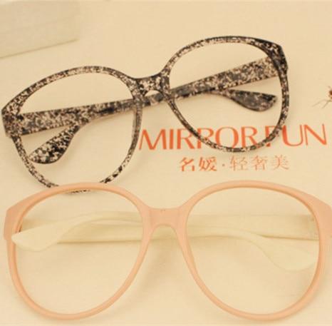 Vintage Big Black Floral Print Fashion Eyeglasses Frames Girls Eye ...