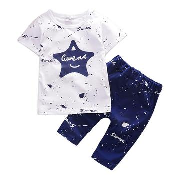 Newborn Summer baby boys clothes set New Star Shirts Shorts Cotton for Kids