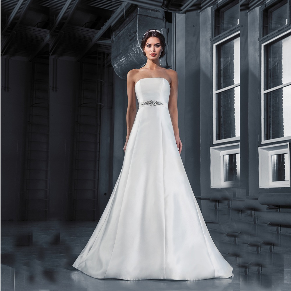 Popular Plain Simple Wedding Dresses-Buy Cheap Plain