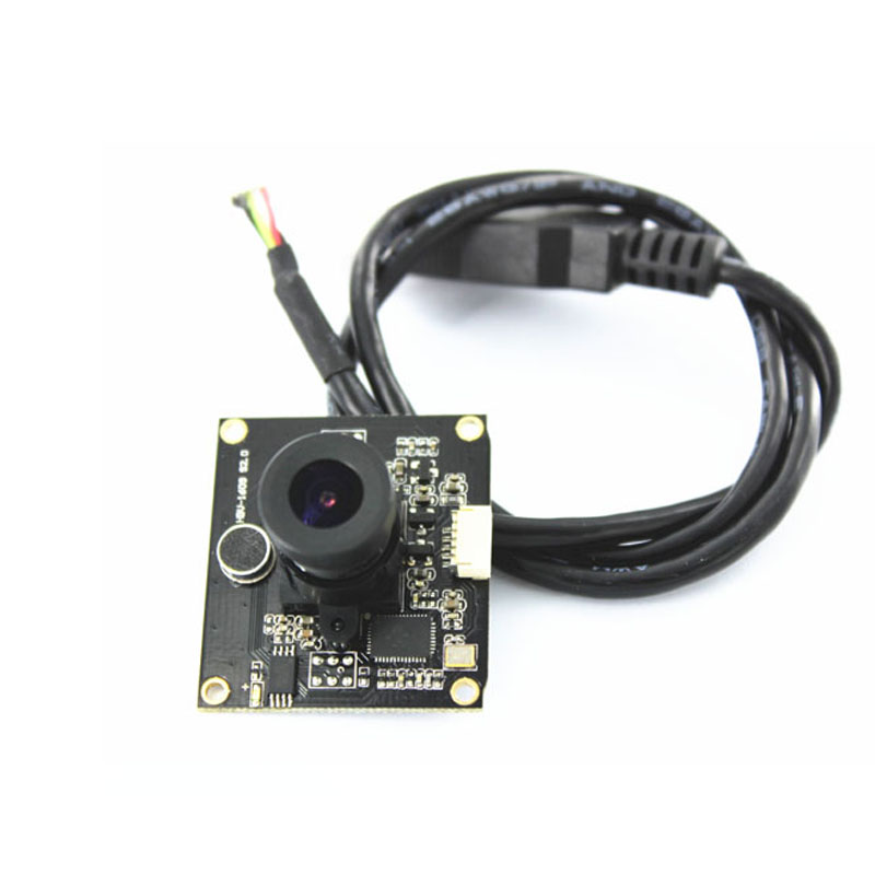 2MP 30FPS Interface USB Módulo de Câmera CMOS Foco Fixo USB2.0 Placa Da Câmera Webcam com Microfone