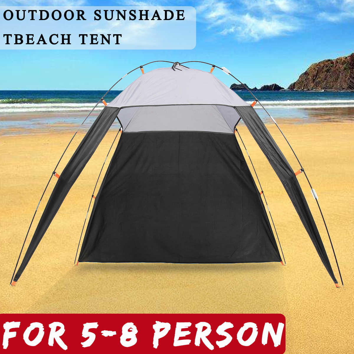 5 8 Person Pergola Windproof Outdoor Tent Summer Uv Tarp Sun Shade Camping Fishing Triangle