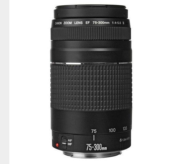 US $155 0  75 300mm Lens Canon EF 75 300mm F/4 5 6 III telephoto lens For  Canon EOS 1300D 650D 700D 60D 70D 80D 6D 7D 5D2 5D3 T3i T5i T6-in Camera
