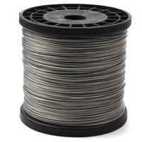 Rompin 500M 1.0mm Stainless Steel Sea Fishing Wire line 1*7 Strands Braided trace Leader Wire Coated plastic Waterproof