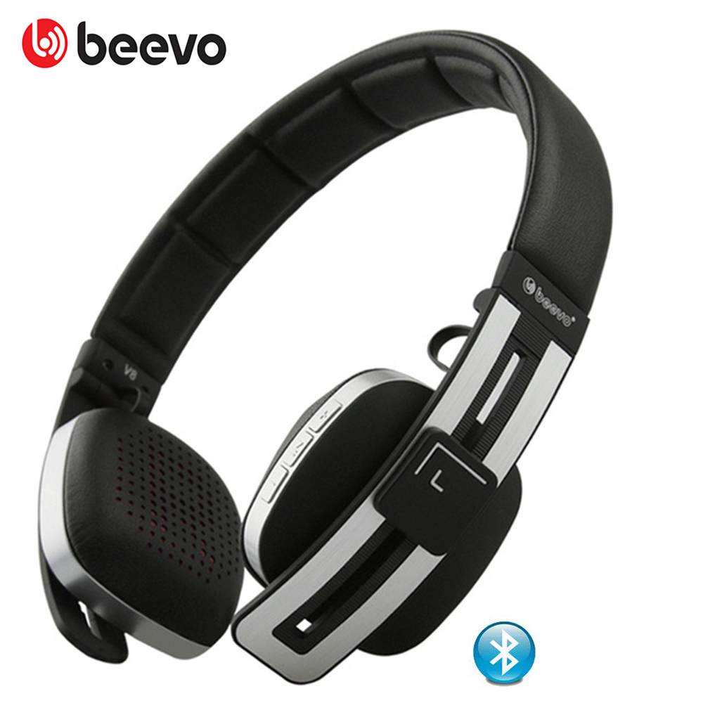 ФОТО  BEEVO Brand V8 Wireless Bluetooth 4.0 Bass Stereo Gaming Headset with Microphone Portable Folding Headphones
