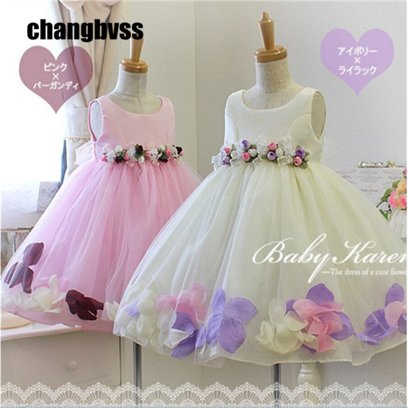 Hot Sale 2-10 years old Flower Girl Dresses,Baby Kids Children's Lovely Dress,High Quality Little Girls Dresses,5 Colour total quality 500g 12 years old gaoli