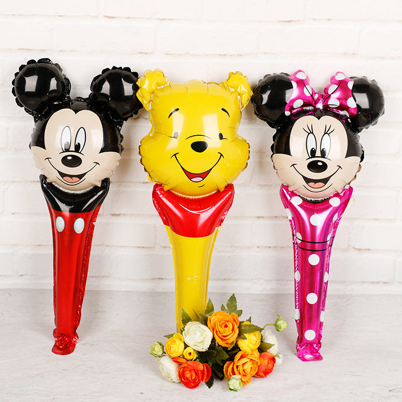 Disney Inflatable Toys Mickey Minnie Cartoon Hand Bar Balloons Birthday Wedding Party Kids Children  Classic Toys