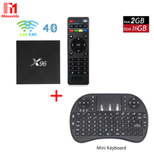 Mesuvida X96 Android 6.0 Quad Core Smart TV Box BT 4.0 2.4 GHz 5.0 GHz double Bande WiFi Set Top Box 2G 16G 4 K 3D Smart Media Player