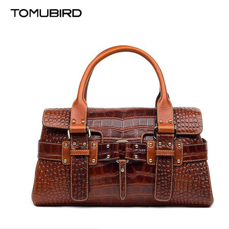 TOMUBIRD new Superior cowhide leather Luxury Embossing Crocodile famous brand Tote bag fashion women genuine leather handbags tomubird new quality cowhide material embossed crocodile tote famous brand women bag fashion genuine leather handbags