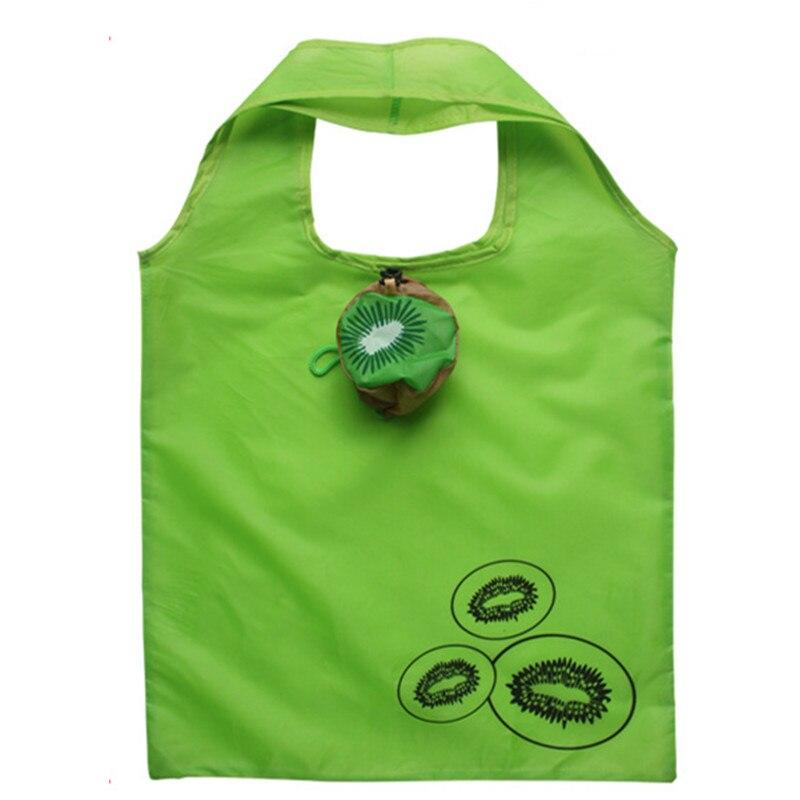 5Pcs lot Cute Eco Reusable Shopping Bag Kiwi Fruit minimalist Custom  Folding Reusable Handle Grocery Recycle Storage Nylon bag b1e854ecd
