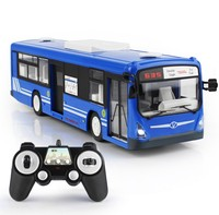 2.4G RC bus 6CH Remote Control City Bus High Speed Electric Open Door RC Bus model with Realistic sound and Light