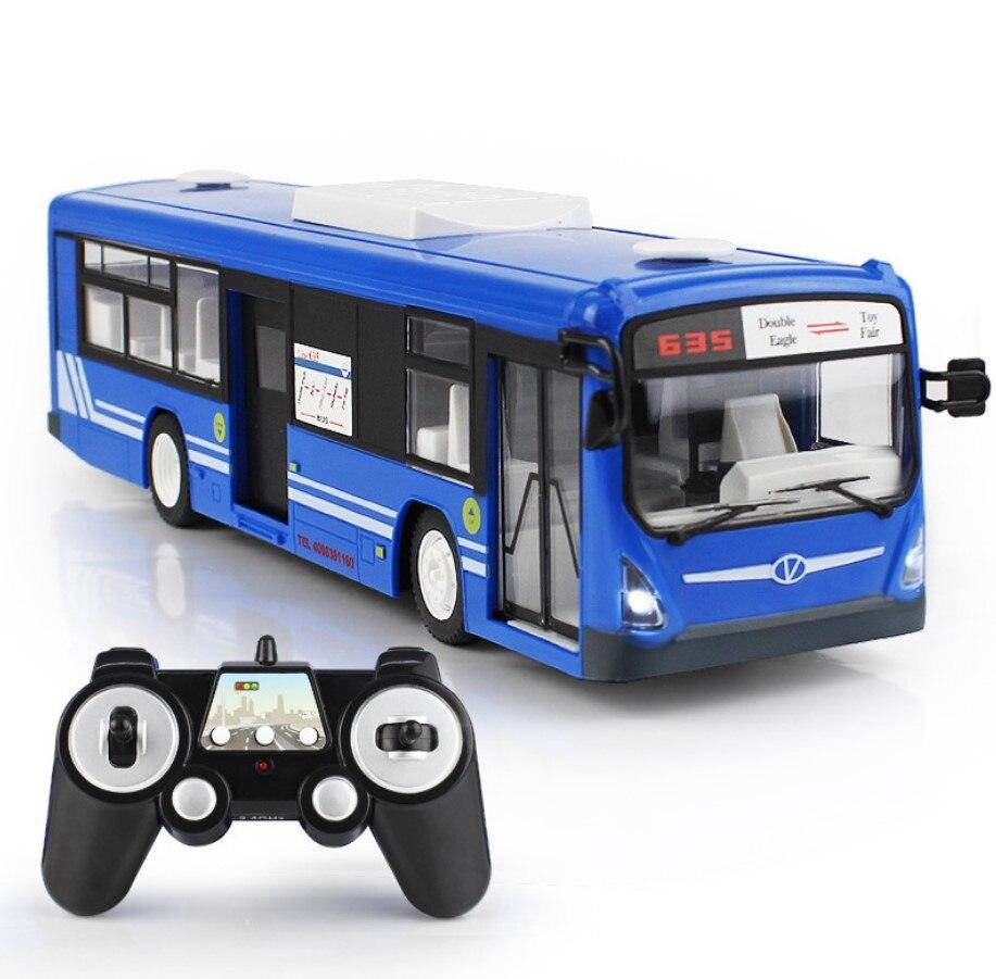 2.4G RC bus 6CH télécommande ville Bus haute vitesse électrique porte ouverte RC Bus modèle avec son et lumière réalistes