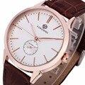 WINNER Fashion Classic Concise Precision Men's Mechanical Wrist Watch Leather Strap Sub Dial W/ Box