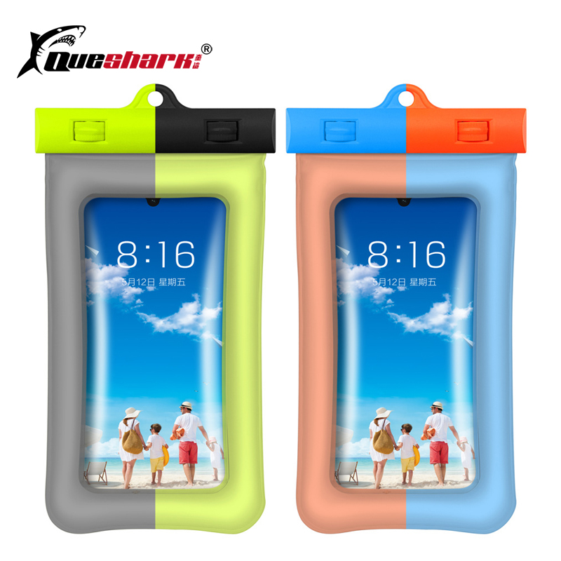 Waterproof River Trekking Phone Bag Fingerprint Unlock Floating Air Phone Swimming Bag Outdoor Diving Beach Water Bag