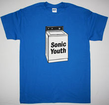 SONIC YOUTH WASHING MACHINE BLUE MENS T SHIRT ALTERNATIVE ROCK POST PUNK INDIE 100% Cotton T-Shirts for Man Top Tee Plus Size
