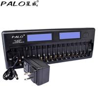 PALO NC32 12/16 yuvası lcd ekran akıllı pil hızlı şarj cihazı çoklu koruma akıllı KTV mikrofon pil şarj cihazı pil|Şarj Cihazları|   -