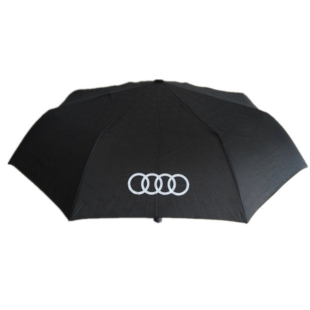 Audi Logo Black Umbrella