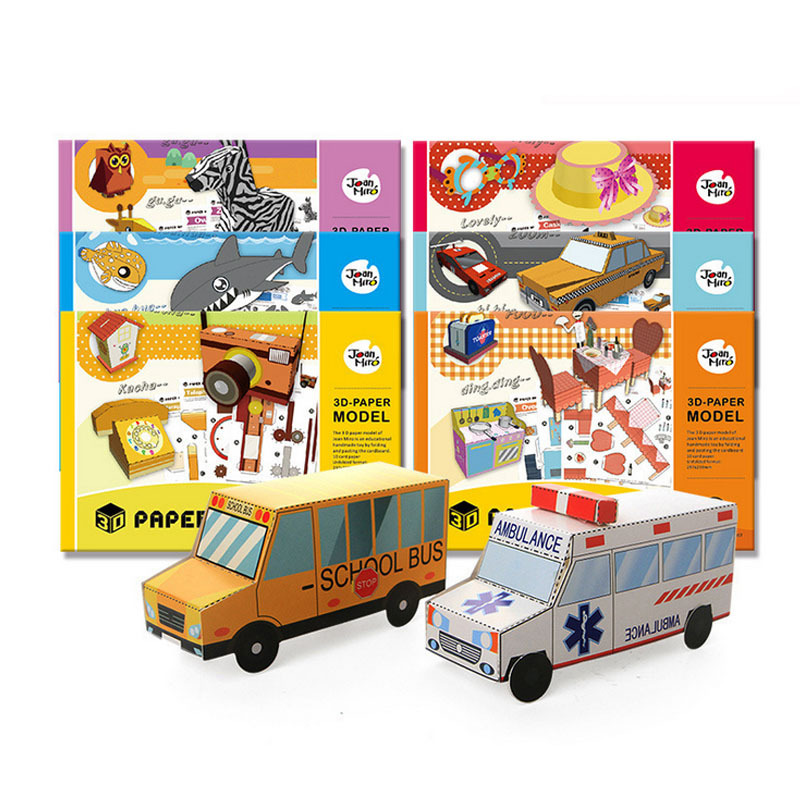 Kitchen Car Paper Dimensional Model Assembled Learning Education Games Kids Toys for Children Gift 3d Puzzle Box Jigsaw Toy