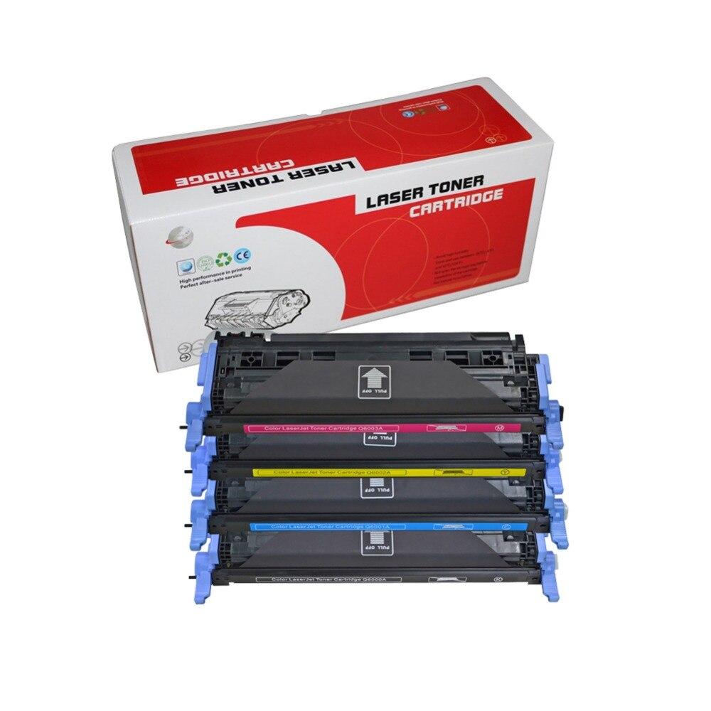 Compatível para hp Cartucho de Toner Laserjet Q6000 6000a 1600 2600n 2605 2605dn 2605dtn Cm1015 Q6000a Q6001a Q6002a Q6003a 124a