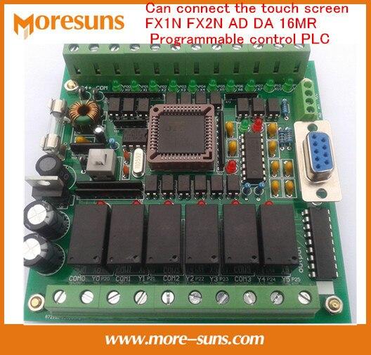 Fast Free Ship PLC industrial control board 51 MCU control board FX1N FX2N AD DA 16MR Programmable control PLC