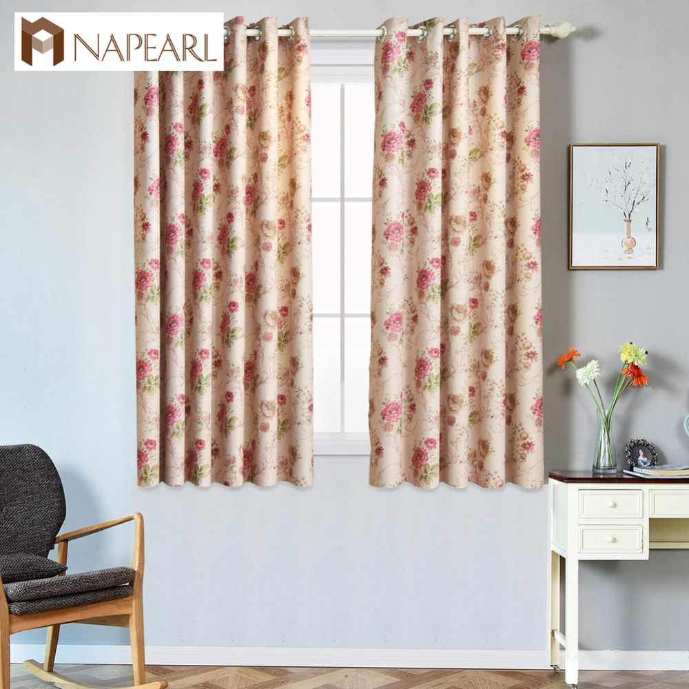 NAPEARL Short grommet top treatments window Kitchen curtains modern ready made blackout curtains for living room window curtains