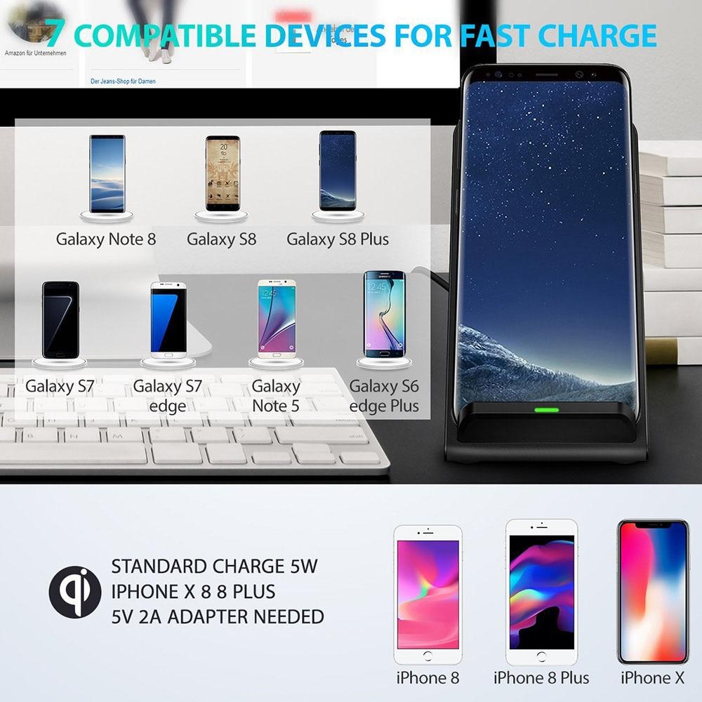 DCAE 10 W Qi Wireless Charger Untuk iPhone 11 Pro Max XR X XS 8 - Aksesori dan suku cadang ponsel - Foto 6