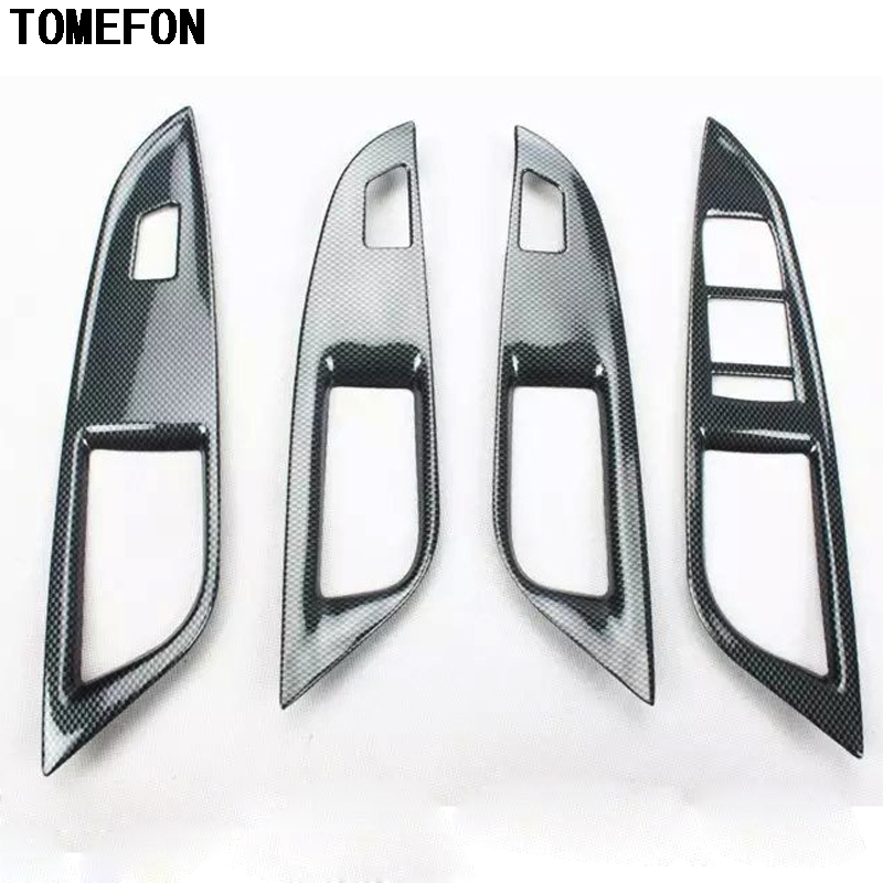 TOMEFON For Chevrolet Cruze 2015 ABS Carbon Fiber Paint Interior Front Middle Gear Shift Window Switch AC Vent Trim