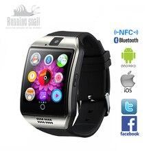 Smart watch q18 gesundheit bluetooth smartwatch uhr unterstützung sim tf-karte kamera nfc montre connecter reloj android für ios android