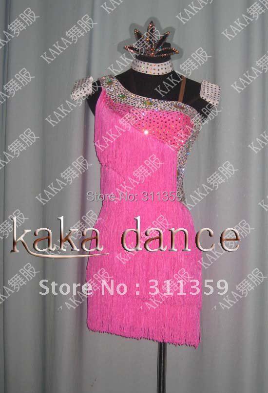 Free shipping 100 New Competition fringe Latin dance font b dress b font salsa font b