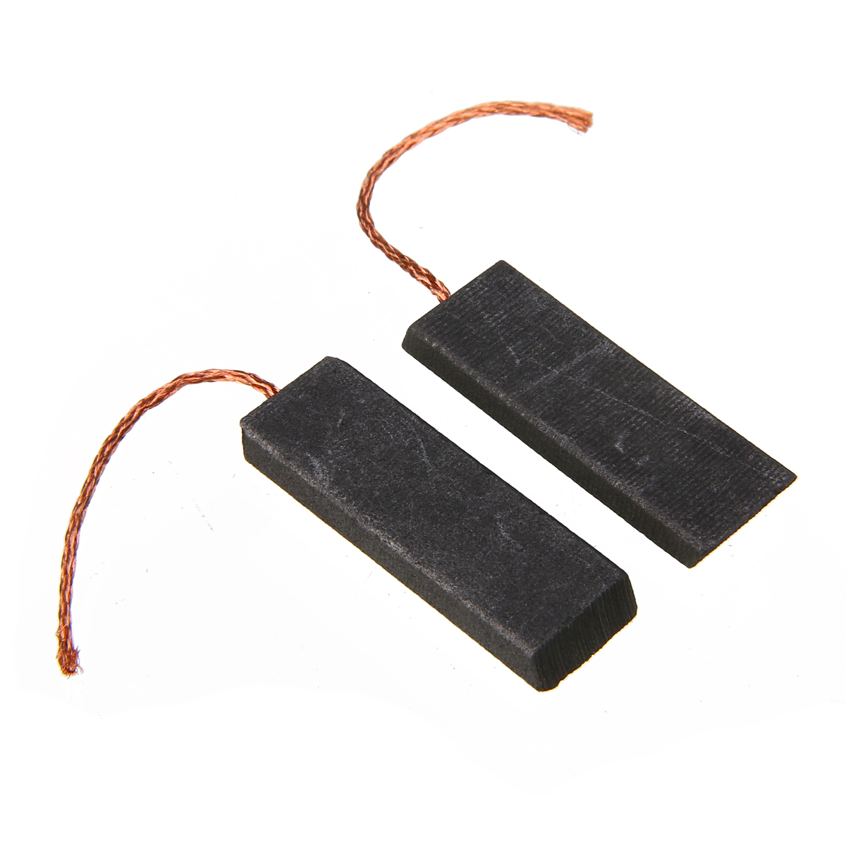 2Pcs Washing Machine Motor Carbon Brush 5x13.5x39mm With 70mm Length Lead For Washing Machine Black