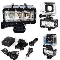 Waterproof LED Flash Video Light Underwater Diving Flash Shoot Lamp For GoPro Hero 5 4 Session