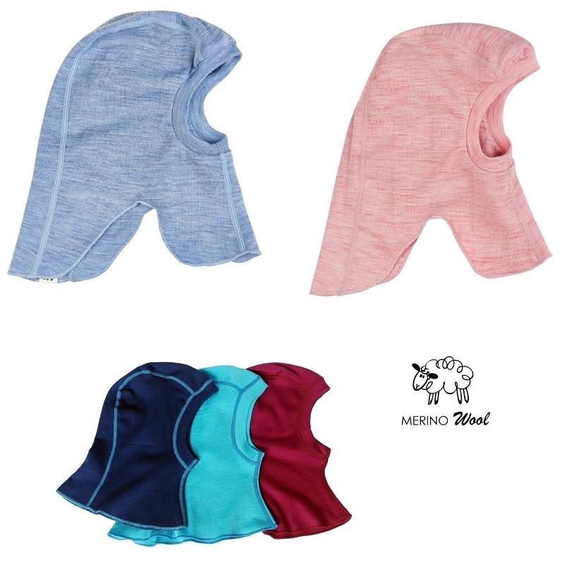 100% מרינו צמר התינוק ילדים תרמית Balaclava פנים מסכה כובע windproof כובע עבור 1-10 שנים