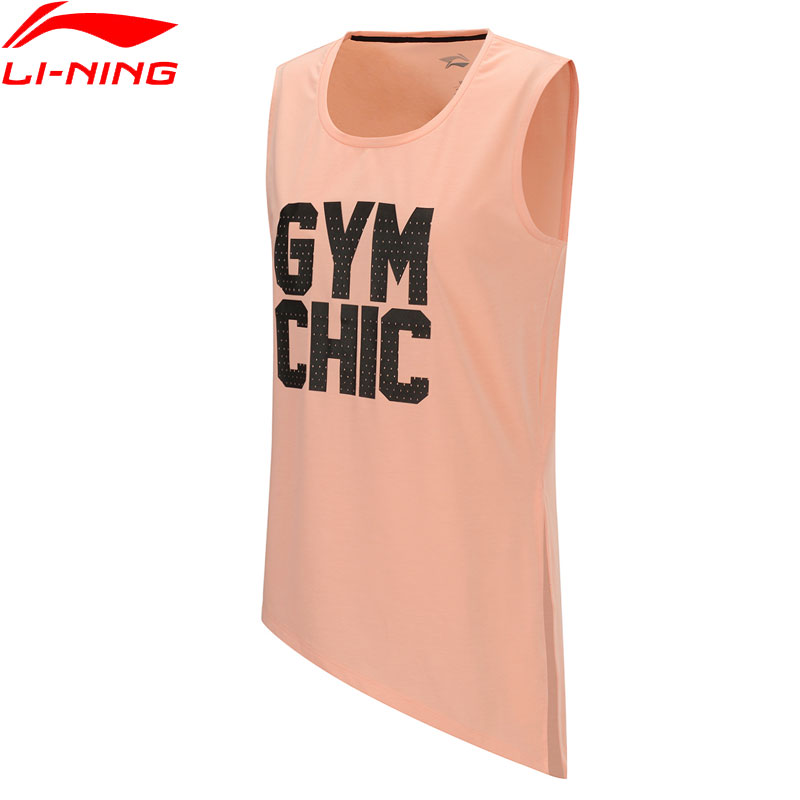 Li-Ning Women Training Tank Top AT DRY 89%Polyester 11%Spandex Vest LiNing Li Ning Sports Sleeveless T-shirt AVSP034 WBS308