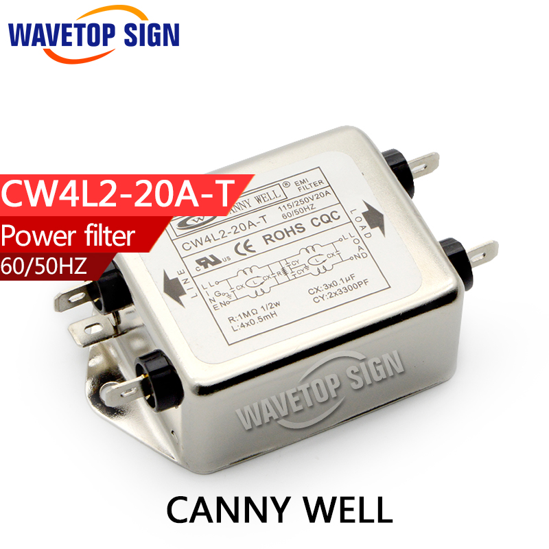 free shipping CANNY WELL  CW4L2-20A-T   EMI  power filter Single-phase double-section power filter CW4L2-10A -T CW4L2-6A -T
