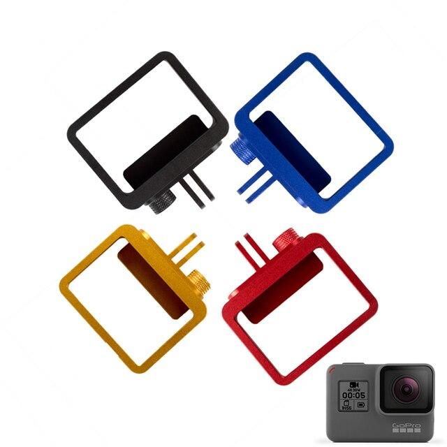 Новый Алюминиевый Сплав Go pro 5 Камеры Защитный Кожух Рамка Чехол Металлической Крышкой Рамка Для GoPro Hero 5 Аксессуары GP399