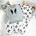 Women Ladies Home Nightclothes Sets Long Sleeve O-neck Sweatshirts+ Pants Cartoon Warm Fleece Soft Pajama Sleep Suits