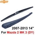 Qeepei traseras limpiaparabrisas y el brazo para mazda 2 mk 3 (DY) 2007-2013 14 ''3/5 puertas hatchback de Alta Calidad Iso9000 De Caucho Natural