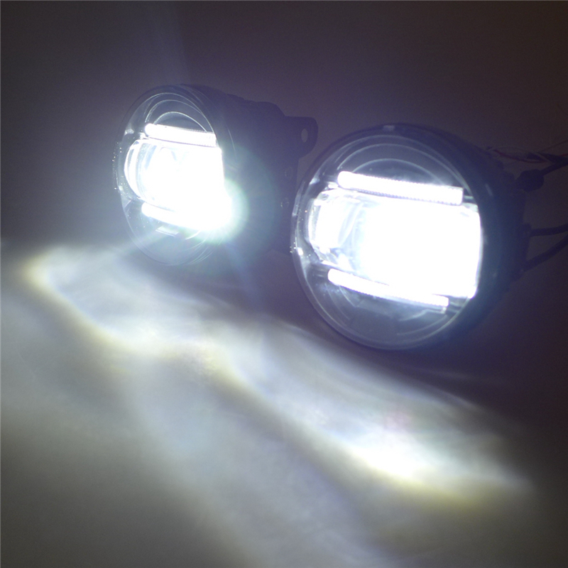 ФОТО Hot sale! LED Fog lamp + Daytime Running Light for  Focus Mondeo Ecosport DRL accessories 12V 15W PI67 6000K 1000LM