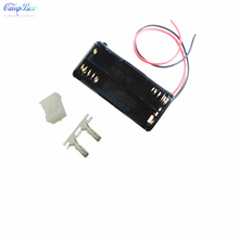 100Pcs 2xAAA Battery Case Holder Socket Wire Junction Boxes With 15cm Wires, PH 2.0 Header and Crimps