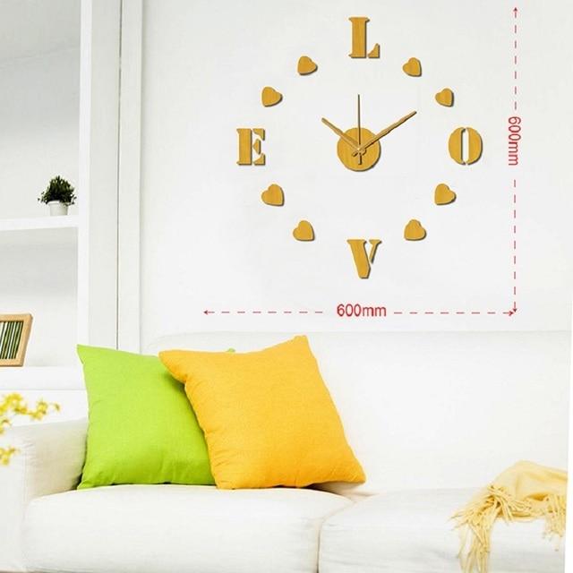 Modern Wall Clock Design Wanduhr Wandklok 3D Diy Relojes Pared Self  Adhesive Home Decor Pared Relogio