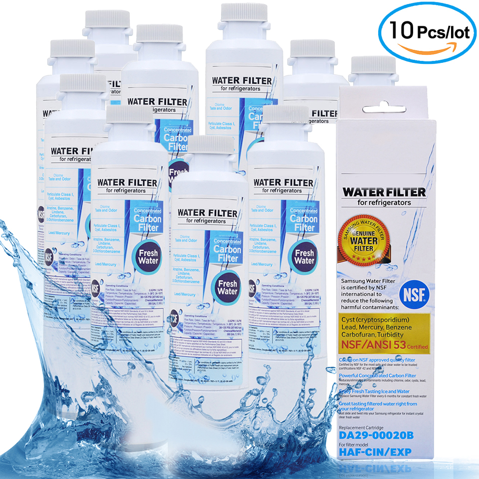 Free Shipping Refrigerator Water Filter Replacement Cartridge Activated Carbon Water Filters for Samsung DA29-00020B 10 Pcs/lot рубашка mango mango ma002ewymn20