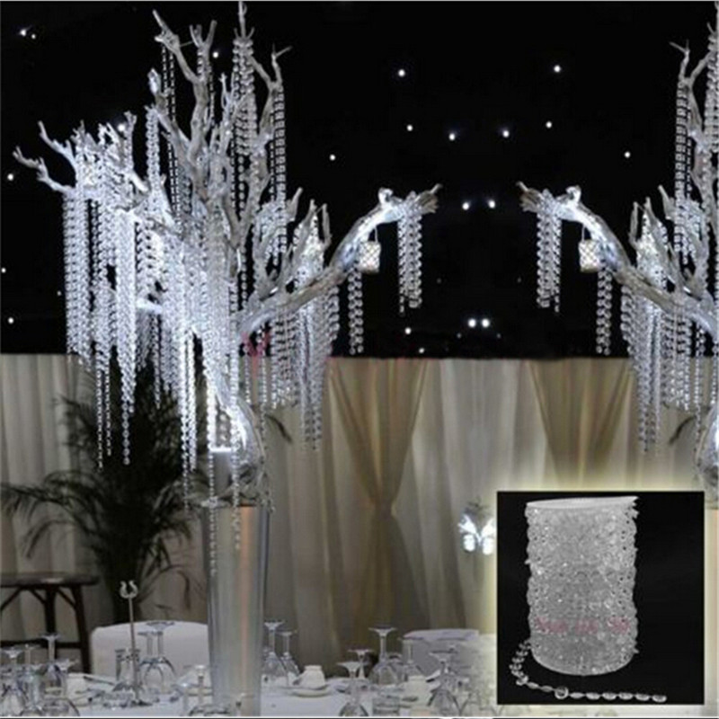 Hot 99 Ft Garland Diamond Strand Acrylic Crystal Bead Wedding Decoration Favor Favour En636 In Party Diy Decorations From Home