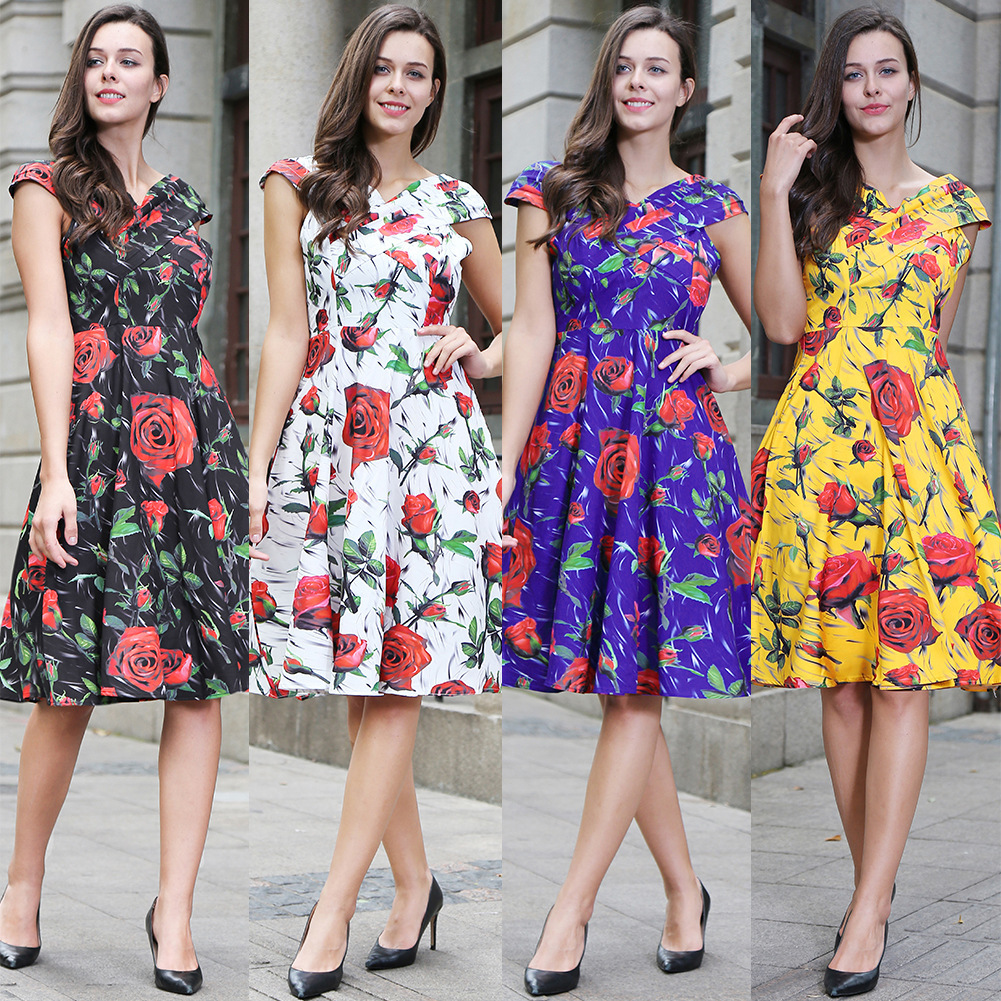 Ukraine Maxi Dress Goods In Stock Real Time Will Code Dress 2018 Summer New Pattern Euro ...